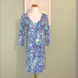 Erin dress - blue crush - like new